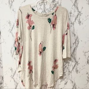 Anthropologie floral high-low top